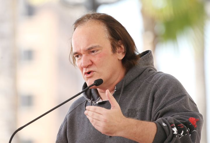 Quentin Tarantino, pictured in May 2017, is getting heat for remarks he made in an old interview with Howard Stern.