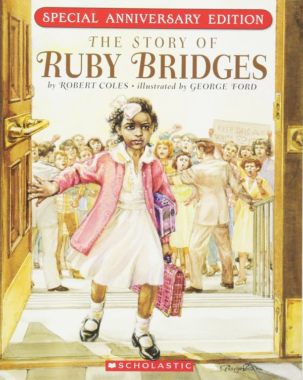 "This book tells the story of <a href=""https://www.womenshistory.org/education-resources/biographies/ruby-bridges"" target=""_bl"