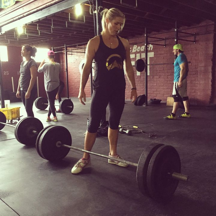 The barbell helpedme remember whoI was beforeI became a mom.