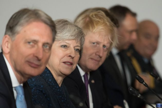 Philip Hammond, Theresa May and Boris Johnson in
