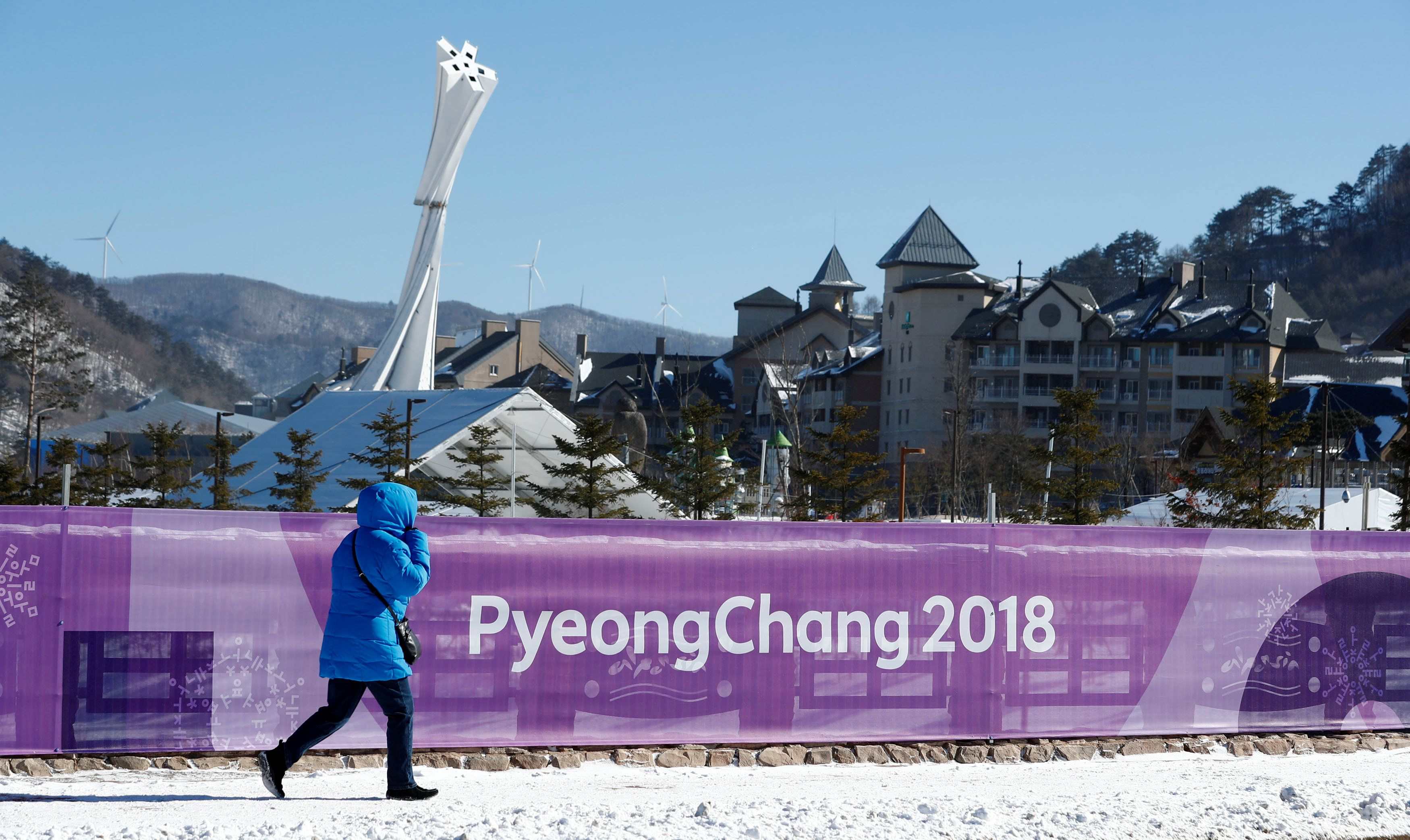 The Olympic Cauldron for the upcoming 2018 Pyeongchang Winter Olympic Games is pictured at the Alpensia resort in Pyeongchang, South Korea, January 23, 2018.   REUTERS/Fabrizio Bensch