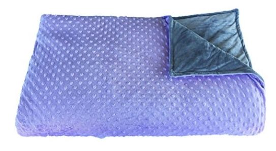 """This 60"""" by 80"""" weighted blanket comes in four colors. Prices start at $199. Get it <a href=""""https://jet.com/product/Platinum"""