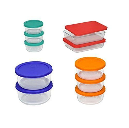 Glass doesn't absorb stains or odors, and these nesting containers can be stacked for convenient storage. They're freezer, mi