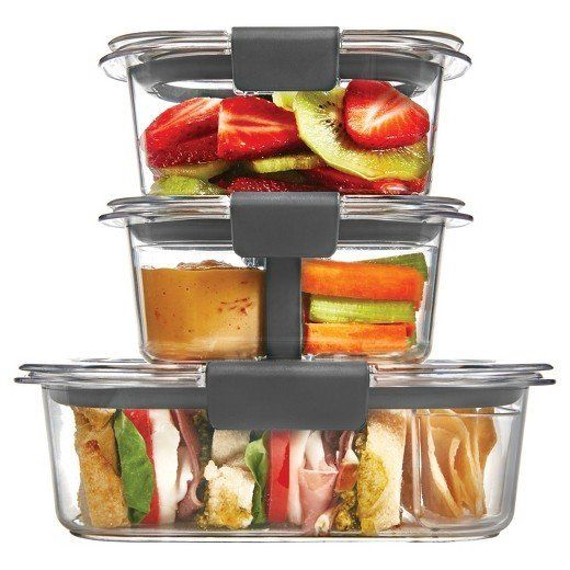 These airtight containers are stain and odor-resistant, and include ventilating lids so you can reheat food without removing