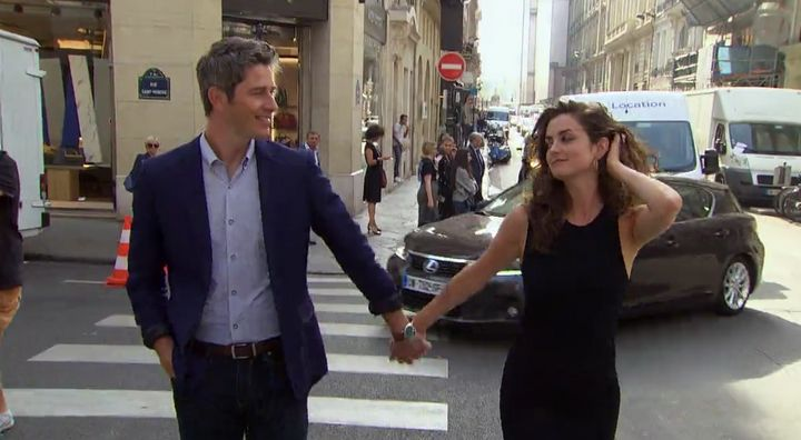 "Arie Luyendyk Jr. and Jacqueline Trumbull share a stroll through Paris on ""The Bachelor."""
