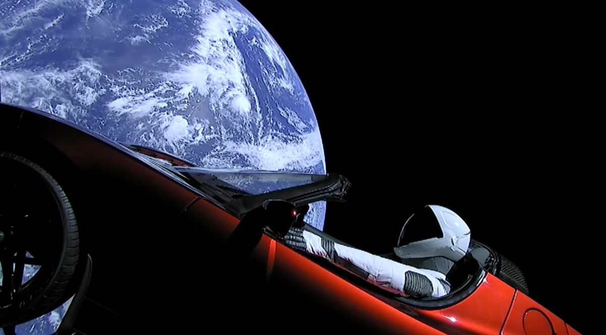Elon Musk Sends Electric Car To Space Aboard World's Most Powerful