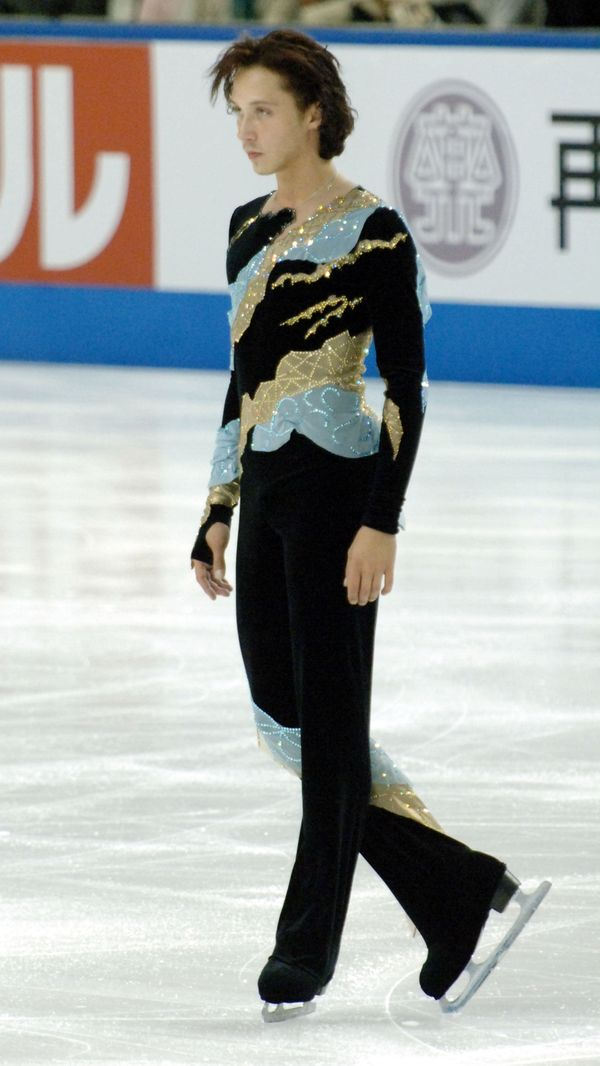 Competing at the Japan International Challenge figure skating cup competition in January 2005.