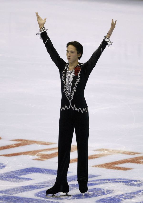 Competing in the short program during the State Farm U.S. Figure Skating Championships on Jan. 8, 2004, at Philips Arena in A