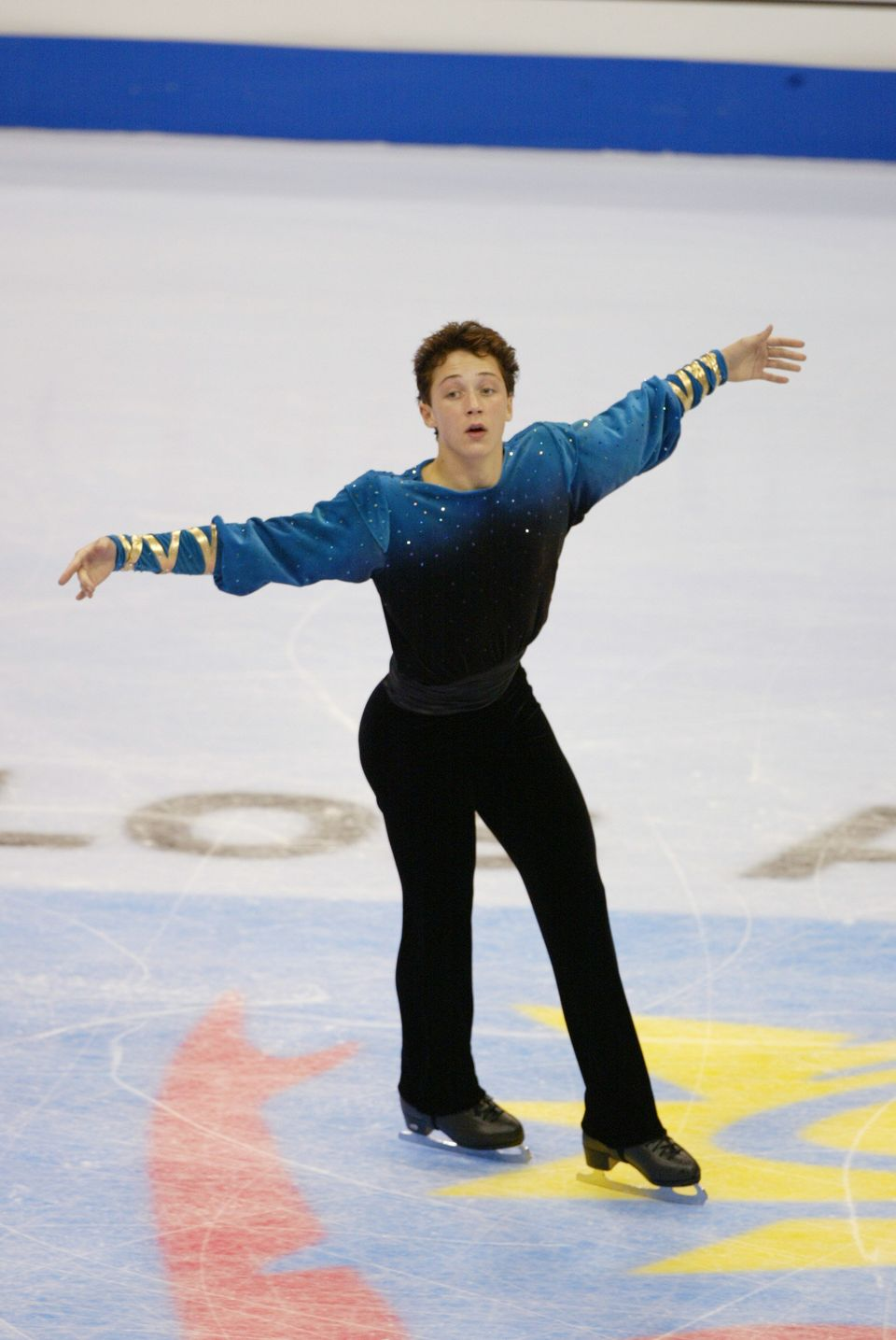 Competing in the men's free program during the State Farm U.S. Figure Skating Championships at the Staples Center in Los Ange