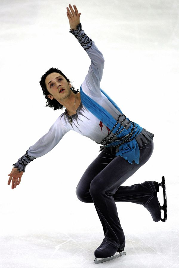 Performing his men's free program at the Cup of Russia ISU Grand Prix of figure skating in Moscow on Nov. 25, 2006.