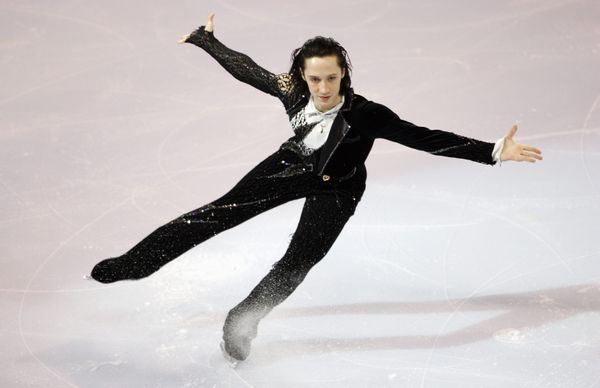 "Performing to ""My Way"" during the Marshalls U.S. Figure Skating Challenge on Dec. 10, 2006, at Agganis Arena in Boston."