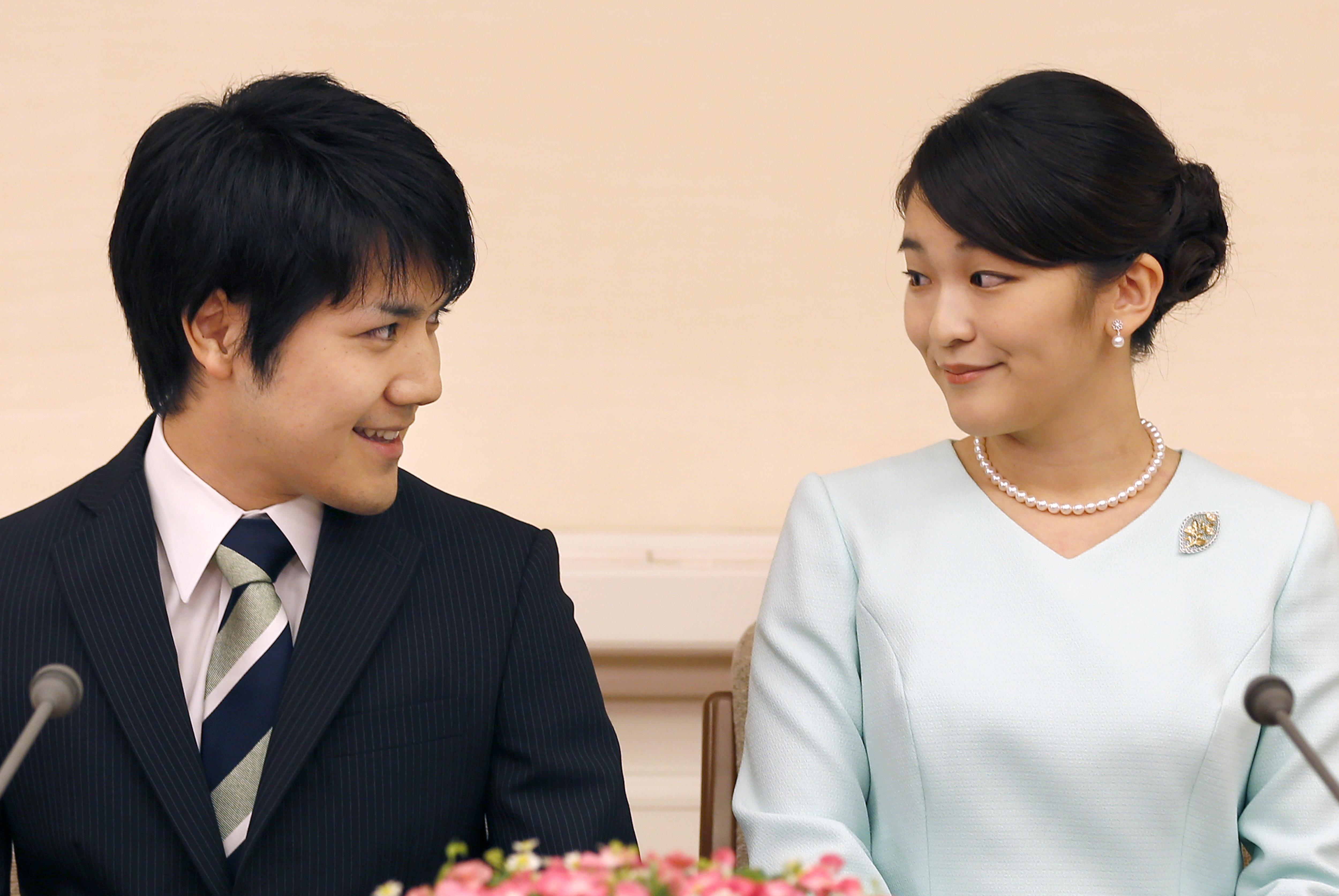일본 마코 공주가 결혼을