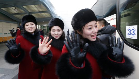 [화보] 북한 응원단이