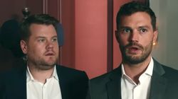 James Corden Invites Jamie Dornan Into His 'Fifty Shades'-Style