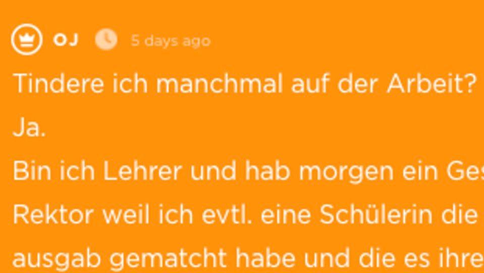 Stuttgarter Lehrer schreibt Frau bei Tinder – er ahnt nicht, wer sie wirklich
