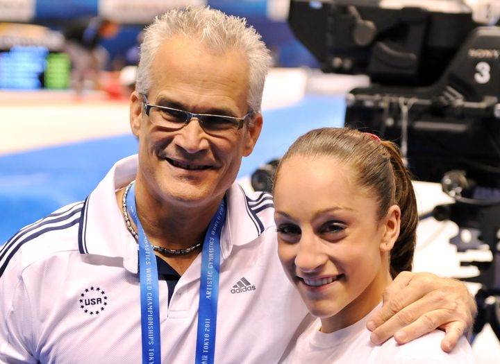 Former USA Gymnastics Olympic coach John Geddert with Olympian Jordyn Wieber in 2011.