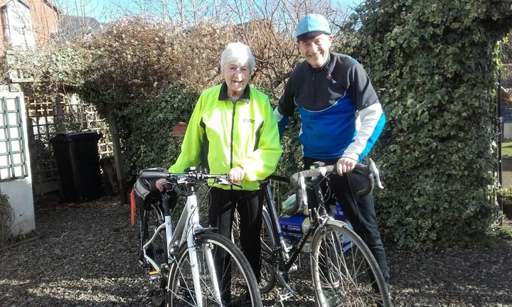 Pam and Jack are still cycling today.