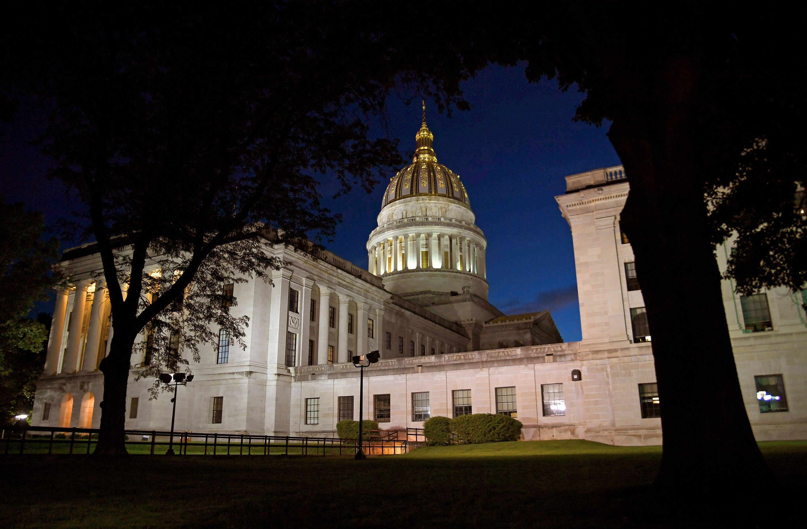 The state Capitol building in Charleston, West Virginia. Lawmakers are reviewing a bill that would amend the consti