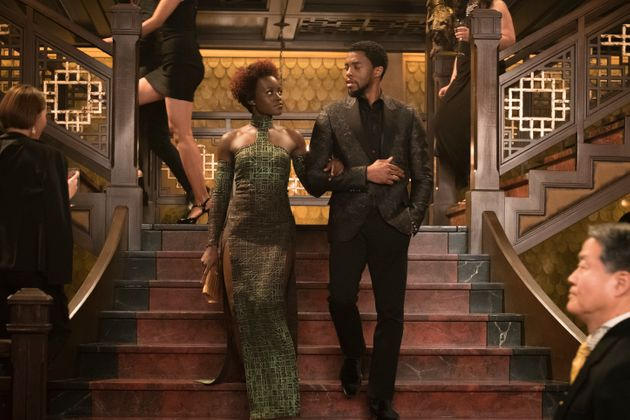 Lupita Nyong'o and Chadwick Boseman in