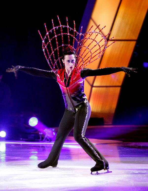"Performing on an episode of ""Skating With The Stars"" from November 2010."
