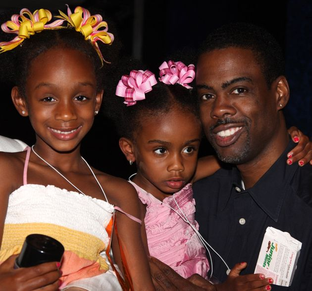 Chris Rock with daughters Lola and Zahra during Lola's sixth birthday celebration in