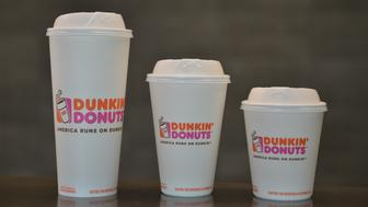 Instead of styrofoam cups Dunkin Donuts plans to have these double walled paper cups