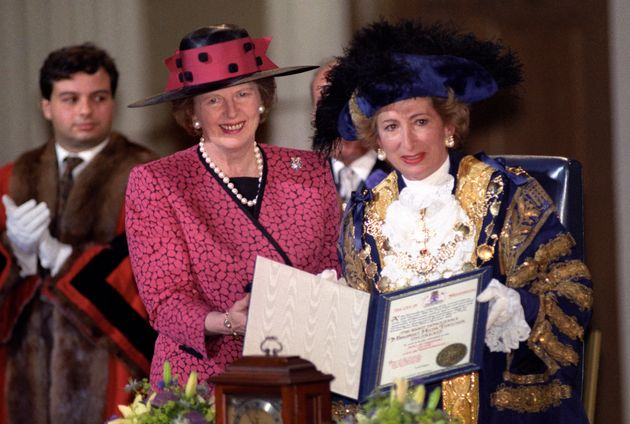 Margaret Thatcher with then Lady Shirley Porter, leader of