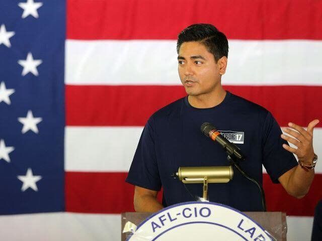 Democrat Aftab Pureval Hamilton County clerk of courts is challenging Rep Steve Chabot R-Ohio in Ohios 1st district