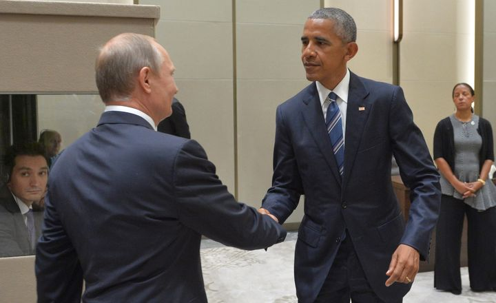 Russian President Vladimir Putin meets with President Barack Obama on the sidelines of the G20 Summit in Hangzhou, China, in