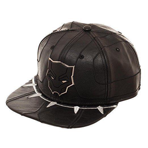 "Get it <a href=""https://www.amazon.com/Black-Panther-Suit-Snapback-Hat/dp/B078NJ9BSM/ref=sr_1_8?amp=&ie=UTF8&keywords=black+p"