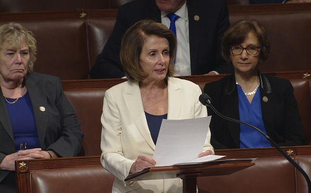 Pelosi spoke for over seven hours on the House floor on