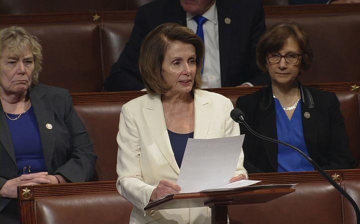 Pelosi spoke for over seven hours on the House floor on Wednesday.