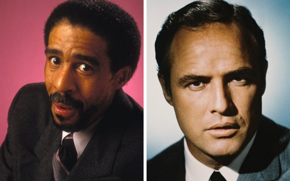 Richard Pryor and Marlon Brando.