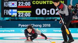 한국 컬링 대표팀이 핀란드를 꺾고 첫 승을