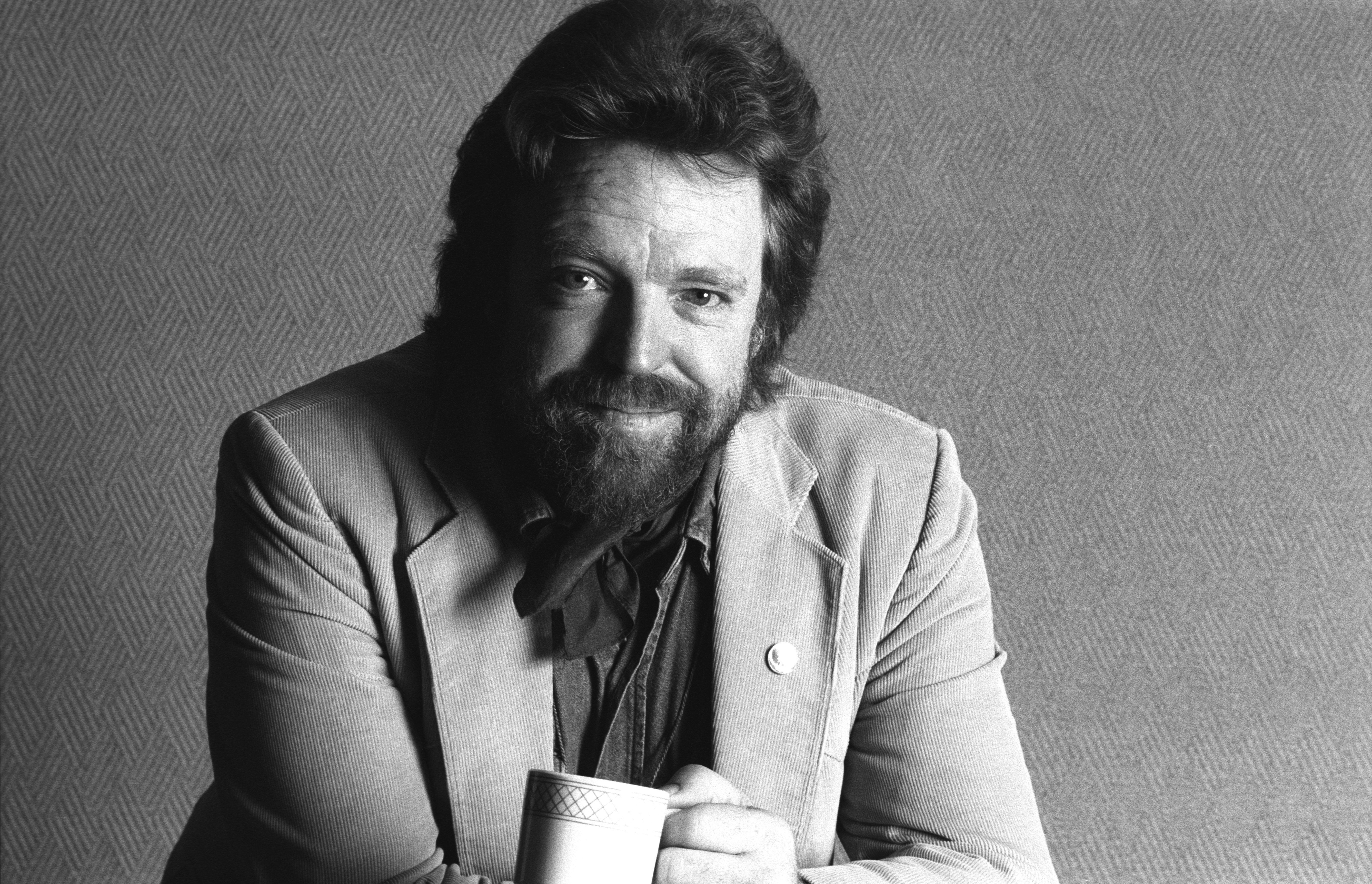 Portrait of John Perry Barlow, from Electronic Frontier Foundation/Berkman Center for Internet and Society, at the annual PC Forum, Tucson, Arizona, March 10-13, 1991. (Photo by Ann E. Yow-Dyson/Getty Images)