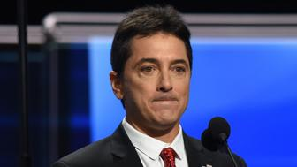 CLEVELAND, OH - JULY 18:  Actor Scott Baio addresses the Republican National Convention in Cleveland, Ohio on July 17, 2016. All eyes will be on the where Donald Trump is expected to be named the nominee for President.  (Photo by Michael Robinson Chavez/The Washington Post via Getty Images)