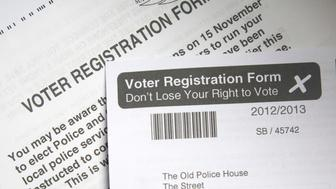 Voter Registration form right to vote, UK (Photo by: Geography Photos/Universal Images Group via Getty Images)