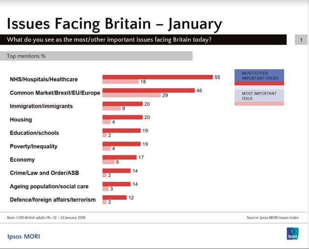 NHS And Brexit Top Britons' List Of