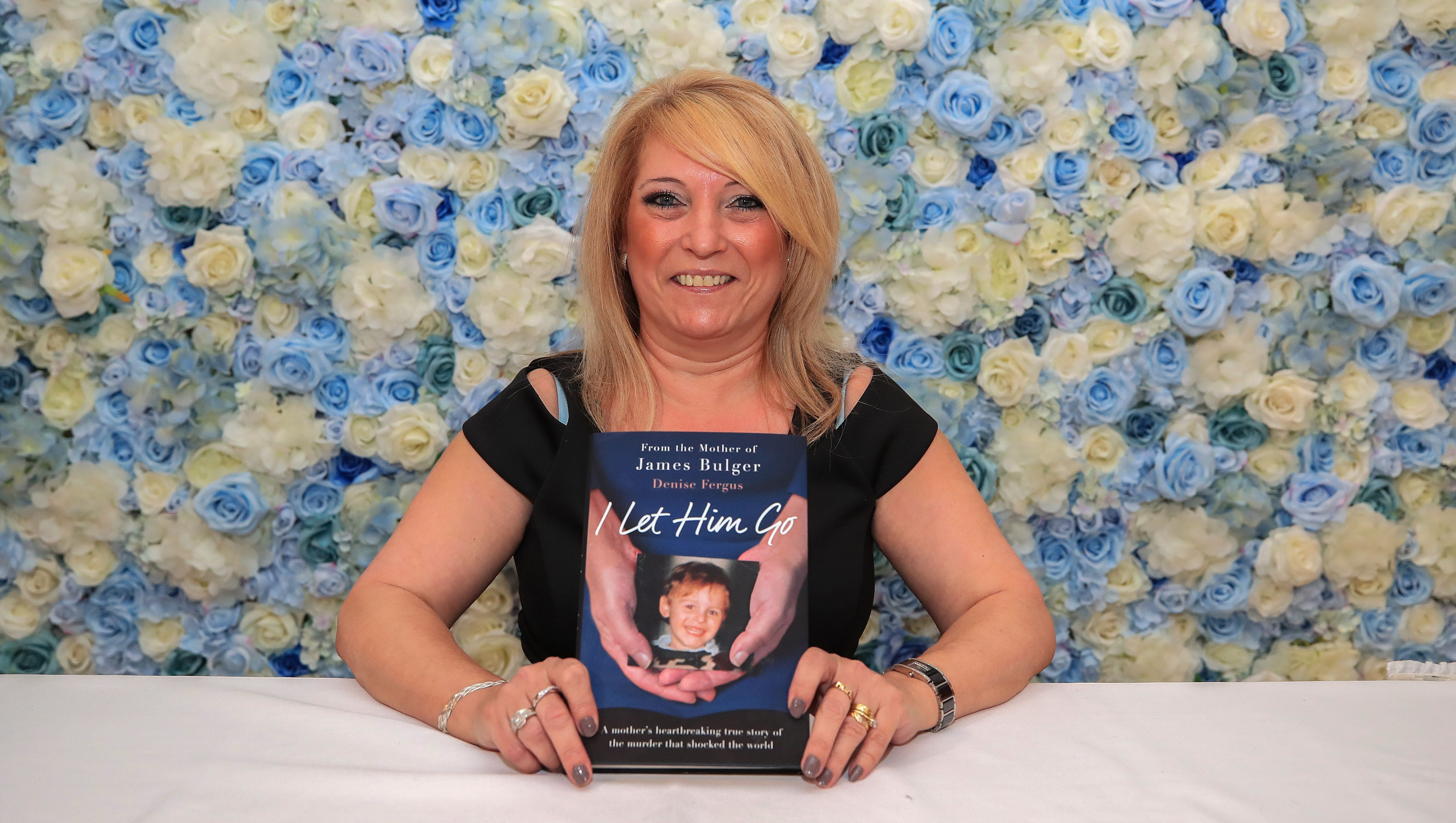 <strong>Fergus at the launch of her book, I Let Him Go, in a Merseyside hotel</strong>