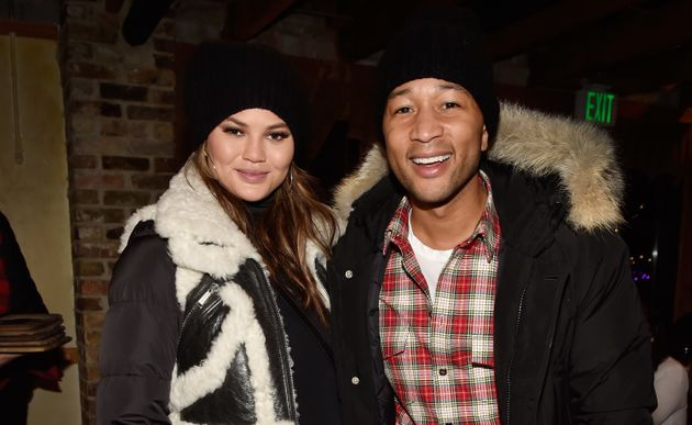 Chrissy Teigen and her husband, the