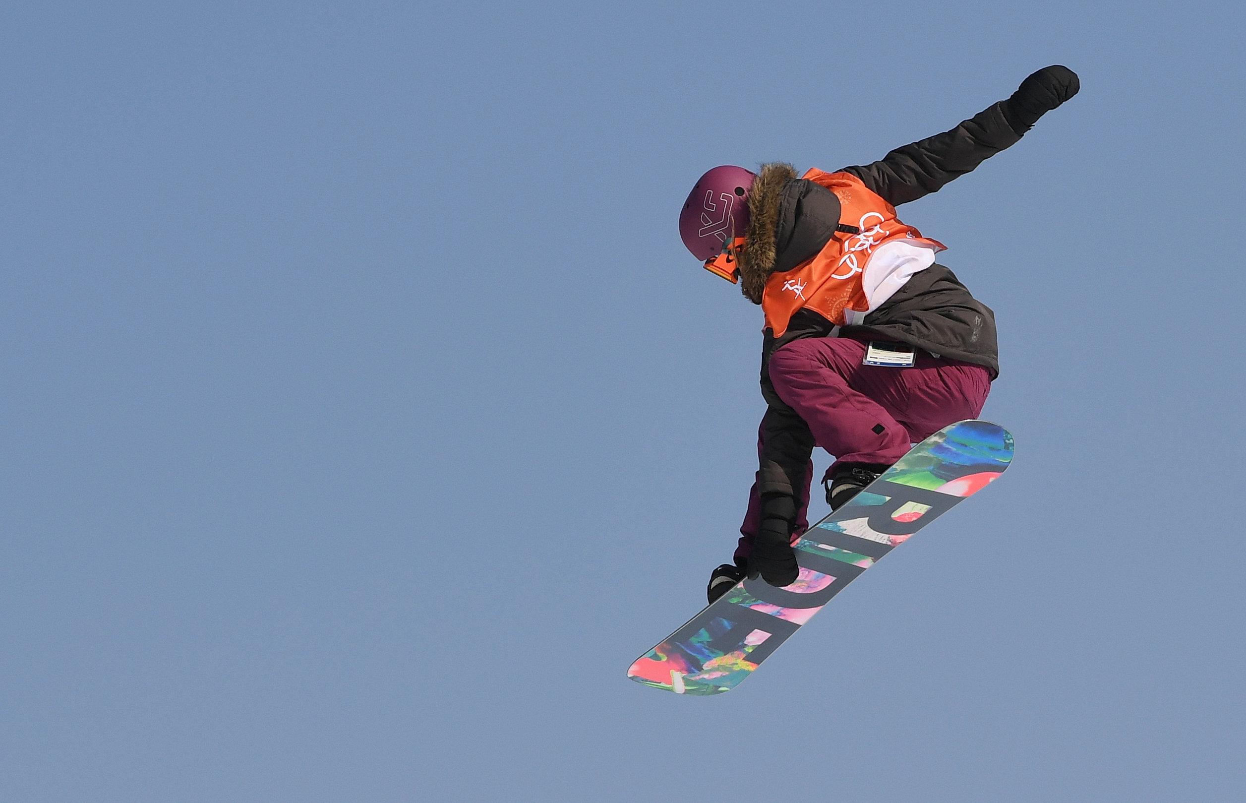 Phoenix Snow Park: Silvia Mittermüller aus Deutschland springt.