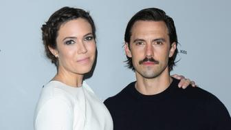 LOS ANGELES, CA - NOVEMBER 13:  Actress Mandy Moore (L) and Milo Ventimiglia (R) attend NBCUniversal's press junket at Beauty & Essex on November 13, 2017 in Los Angeles, California.  (Photo by Paul Archuleta/FilmMagic)