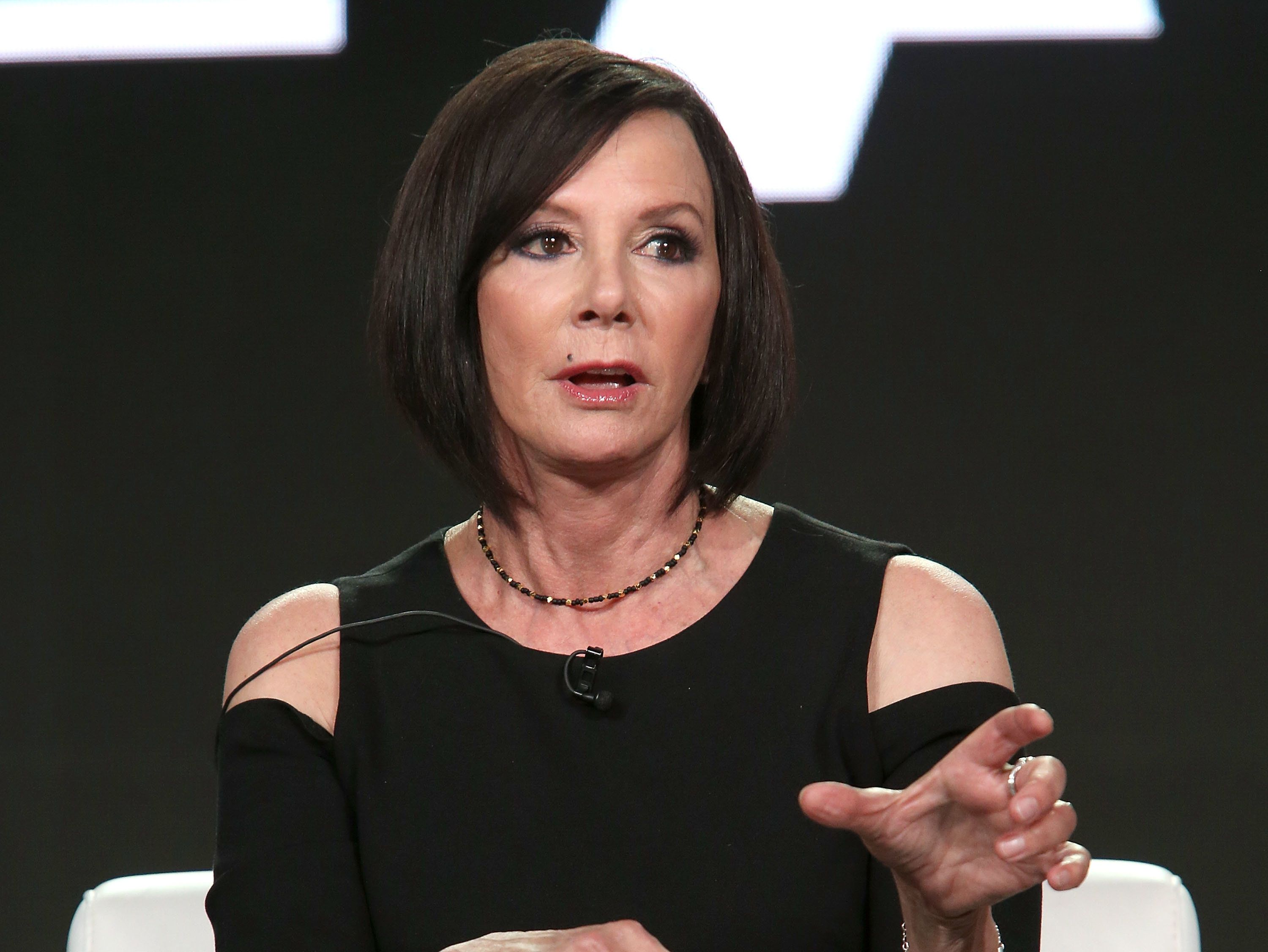 PASADENA, CA - JANUARY 14:  Executive producer Marcia Clark attends A+E Networks' 2018 Winter Television Critics Association Press Tour on January 14, 2018 in Pasadena, California.  (Photo by Jesse Grant/Getty Images for A+E Networks/Lifetime)