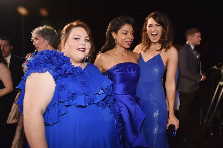 From left to right, Chrissy Metz, Susan Kelechi Watson, and Moore are seen at the 24th Annual Screen Actors Guild Awards