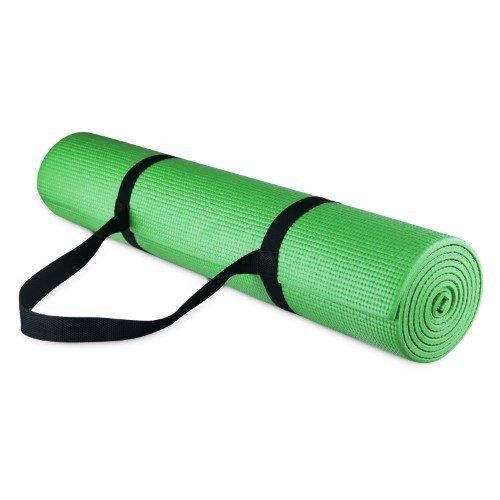 This mat is extremely thick, providing support for some of those beginner joint pains. It's also got enough extra materi