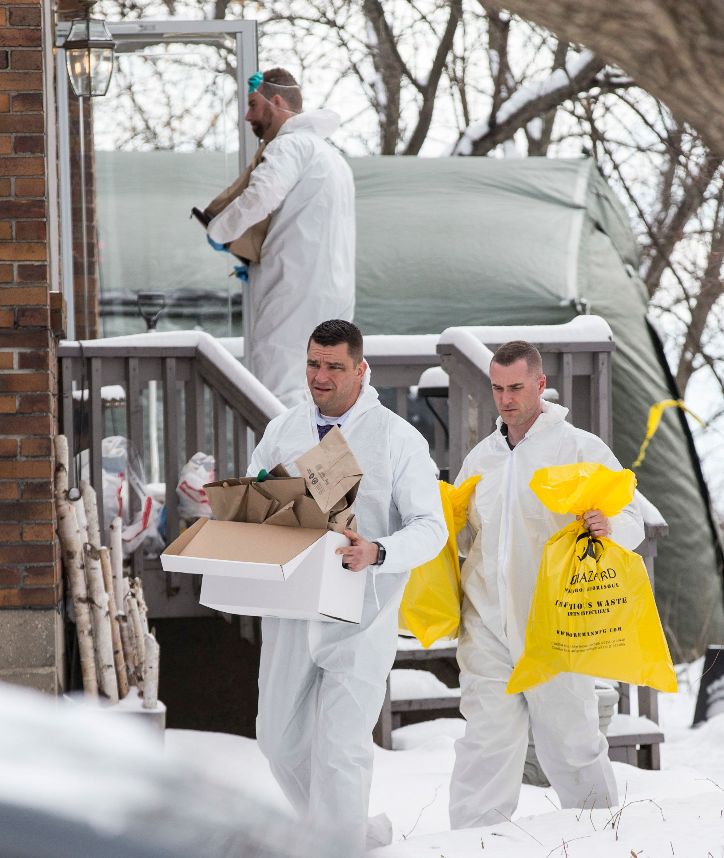 TORONTO, ON - FEBRUARY 8  - Forensic investiagtors remove evidence from home at 57 Mallory Cresc., Toronto. Planters containing body parts linked to accused serial killer Bruce McArthur have been previously removed from the property. February 8, 2018.        (Bernard Weil/Toronto Star via Getty Images)