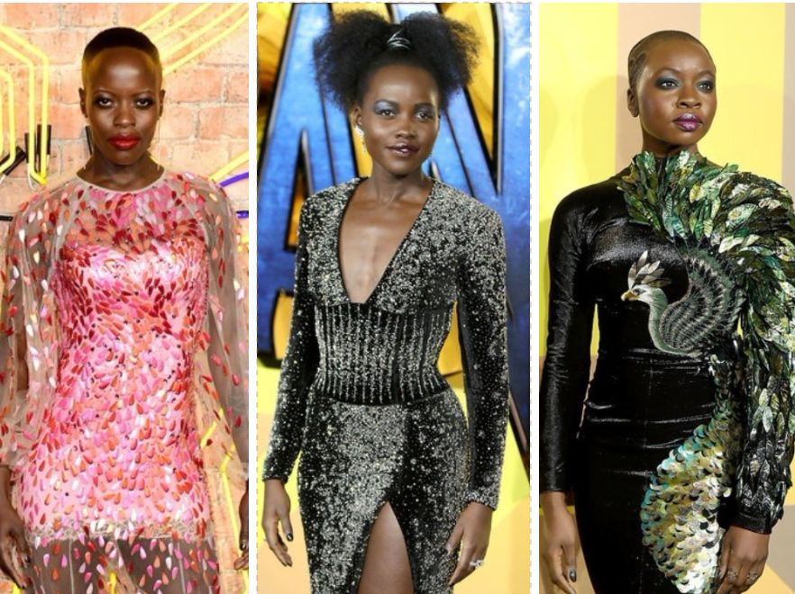 The Dresses At The 'Black Panther' European Premiere Were