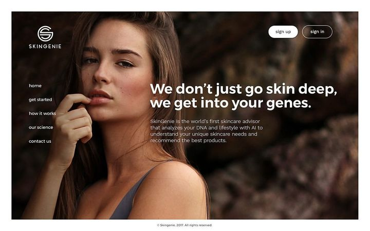 SkinGenie beauty DNA reports are reviewed and certified by dermatologists, and use a proprietary algorithm to explore potenti