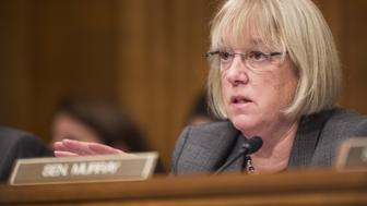 Senator Patty Murray, a Democrat from Washington, speaks during a Senate Health, Education, and Labor Committee confirmation hearing for Betsy DeVos, secretary of education nominee for U.S. President-elect Donald Trump, not pictured, in Washington, D.C., U.S., on Tuesday, Jan. 17, 2017. DeVos said raising costs of higher education need to be addressed, according to prepared remarks for her hearing Tuesday e-mailed by Trump transition team. Photographer: Zach Gibson/Bloomberg via Getty Images