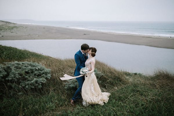 """Arielle and David had planned to get married in a garden venue surrounded by fairy lights. Five minutes before the cere"